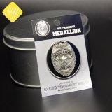 Distintivo su ordinazione personalizzato dello sceriffo della polizia militare dell'esercito di prezzi di fabbrica