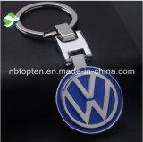 Client Logo voiture Trousseau métallique avec anneau de clé en acier