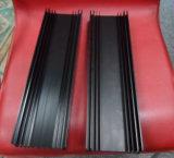 6063 Alliage en aluminium extrudé anodisé noir/profil en aluminium