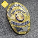 Alliage de zinc professionnel personnalisé insigne de police de sécurité de l'armée