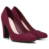 Les femmes bloc rouge chaussures chaussures à talon PU Mesdames prix d'usine