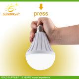 2018新しいデザインアルミニウムプラスチックが付いている屋外の屋内LED再充電可能な電球