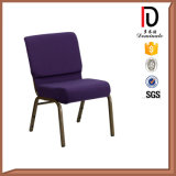 黒いスタック可能鋼鉄金属教会講堂の椅子のブロムJ005