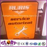 Знак Ruris светлой коробки Thermoforming вакуума изготовления Китая напольный