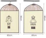 Janela de PVC transparente OEM personalizados de viagem dobráveis Non-Woven Suit Saco para roupa