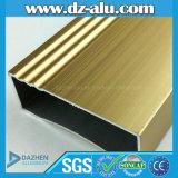 Profilo di alluminio di lucidatura anodizzato dell'oro per il portello della finestra del materiale da costruzione
