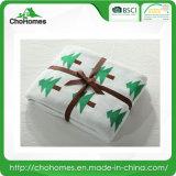 Type doux de Noël de couverture de tissu de double configuration