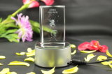 кубик фотоего 3D вытравленный лазером кристаллический для подарка или домашнего украшения