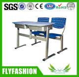 학교 교실 두 배 테이블 고도 의자를 가진 조정가능한 학생 책상