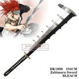 Espada 104cm de Abarai Renji Zabimaru do descorante da espada do Anime