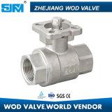 2PC Válvula de bola con la norma ISO5211 SS316