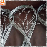 La protección de compensación de malla de alambre de acero inoxidable malla cuerda