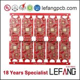 Tinta vermelha 6 camadas da placa do PWB para o amplificador de potência do sinal