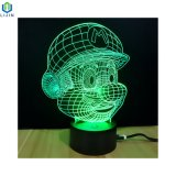 Nachtlicht der Karikatur-3D mit stufenweisem Licht der Änderungs-Farben-LED