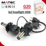 차 LED 헤드라이트 전구 40W H11 9005 9006 H7 H4 LED 차 헤드라이트 장비
