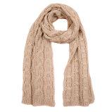 Кабеля зимы вычуры краски космоса женщин шарф Unisex толщиного тяжелый связанный (SK159)