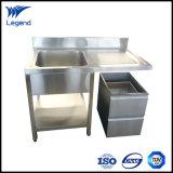 Dispersore commerciale di vendita caldo dell'acciaio inossidabile con singolo Drainboard