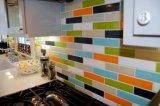 Orange 4X12inch/10X30cm glasierte glatte keramische Wand-Untergrundbahn-Fliese-Badezimmer-/Küche-Dekoration