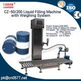 バレルの洗剤の本質(CZ-50/200)のために重量を量ることを用いる液体の充填機