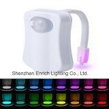 Asiento del inodoro de luces con 8 cambios de Color, movimiento activa el LED Wc del sensor de luz de noche (Battery-Operated)