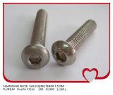 ISO7380 Tasten-Kopf-Maschinen-Schraube M4X6 des Edelstahl-304 Hex der Kontaktbuchse-316 zu M4X40