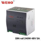 bloc d'alimentation de la série 5A 240W 48volt de longeron de 240W DIN avec Pfc