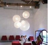 실내 점화 현대 공 홈 펀던트 램프 아마 스레드