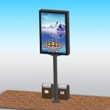 Rue en cristal annonçant le cadre léger d'étalage de poste de lampe de Signage