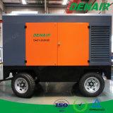 China-Import-bewegliche motorangetriebene Schrauben-Dieselluftverdichter für grosse Maschine