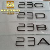 Muestras de número de acero revestidas 30stainless del color de la soldadura PVD del corte del laser