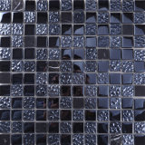 Qj010 Negro mosaico Mosaico de vidrio y piedra y mosaico de vidrio