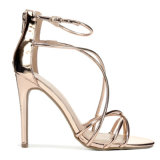 Лучшие продажи новой секси дамы кристально чистый звук высокого каблука босоножки женщин обувь