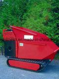 9CV alimentado rastreados Wheelbarrow/minicarregadora Transporter Dumper/Via Dumper/Jardim Loader/Muck Truck/Mini Dumper Extensões Laterais, Marcação de Carregamento Automático Dianteiro