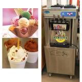 機械を作る3つの味のアイスクリームを使用してコマーシャル