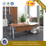 Tableau exécutif de bureau de bureau en métal d'école en bois en acier de patte (UL-MFC580)