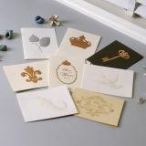 Impresión de la tarjeta de felicitación, regalo de papel para el cumpleaños Chirstmas de la boda