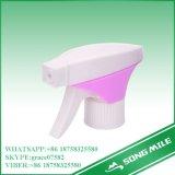 28/410, 28/415 de pulverizador plástico branco/da cor-de-rosa dobro da tampa do disparador