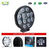 J279) 9 pollici del LED di indicatore luminoso del lavoro con l'indicatore luminoso del punto