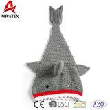 Couverture acrylique de requin de crochet de Knit de modèle neuf chaud de vente