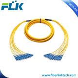 Cuerda de corrección óptica del Fan-out de fibra de las Mutil-Memorias del manojo Sm/mm/Om3 Sc/LC/FC/St/MTRJ/E2000 Upc/APC
