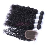 Les faisceaux de cheveux d'onde naturelles brésilien avec plein de cuticule