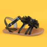 Kind-Form-Blumen-Leder-weiße Mädchen-Prinzessin Sandals Shoes