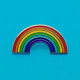 Personalizado de alta calidad Rainbow Prendedores Badge