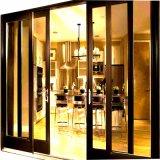 Portello di alluminio esterno caldo di vetro Tempered di vendita
