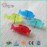 [25مّ] بلاستيكيّة زاويّة سمكة رأس دفع دبابيس لأنّ مكتب التصاق