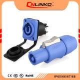 TUV/UL/CCC Aprobación Yf24 Azul de 3 pines del conector de alimentación Cable resistente al agua IP65 razonable precio