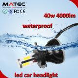 LED車のヘッドライトH1 H7 H11 H4 9006 9005 40W穂軸LEDのヘッドライト