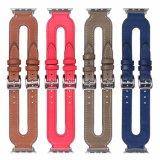 Gostavas de couro genuíno estilo alça de relógio para Apple Iwatch pulseiras banda