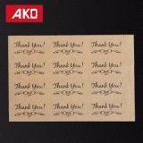 """"""" Danke """" überzogenes Papier-Aufkleber-Kennsatz-Kreisdichtungs-Pasten-Fertigkeit-verpackendichtungen"""