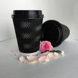 최신 음료 최신 커피를 위한 빨간 잔물결 종이컵